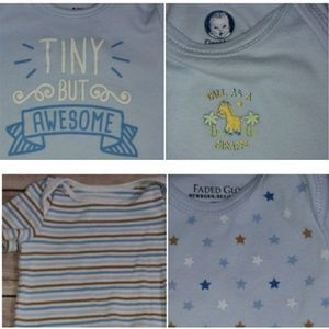 Other - 0-3M Bundle - Blue Onesies
